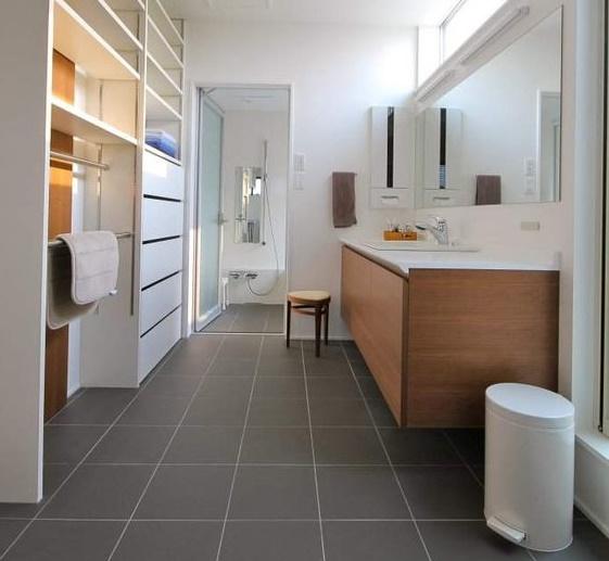 洗面化粧台の賢い選び方・床材を考える