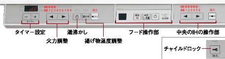 セキスイハイム仕様のシステムキッチン、ラクシーナの操作パネル