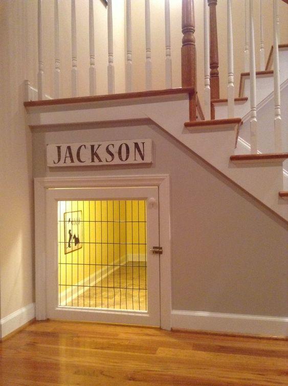 ペットスペースは階段下がお勧め