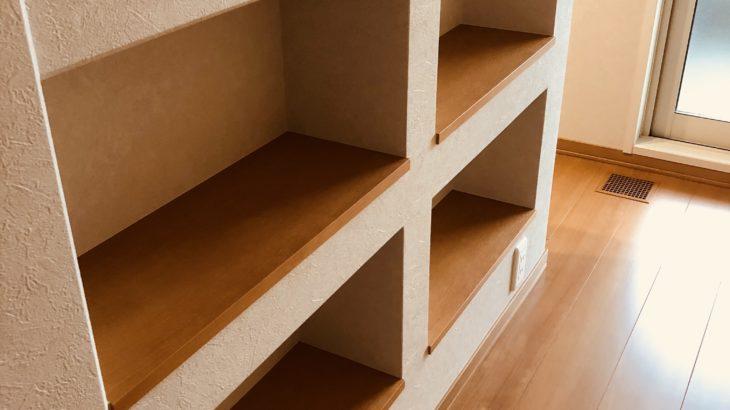 ニッチで作る階段本棚&リモコン・スイッチニッチ