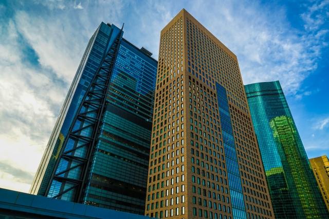 高層ビルのラーメンボックス構造